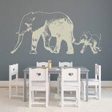 Elephant Wall For Nursery Baby Stickers Large Decal Girl Art With Name Yoga Indian Grey Amazon Vamosrayos