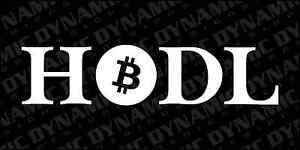 Bitcoin Hodl Btc Hold Vinyl Window Sticker Sign Crypto Currency Blockchain Decal Ebay