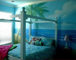 Tropical Kids Design Ideas Pictures Remodel And Decor Ocean Themed Bedroom Beach Bedroom Decor Beach Themed Bedroom