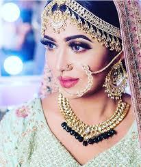 nath nose ring bridal makeup