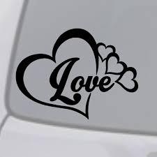 Love Heart Symbol Vinyl Decal Car Window Bumper Sticker Family Infinity Forever