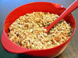 healthy roasted nut seed muesli