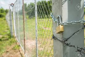Close Up The Gate Fence Locked With Metal Chain And Padlock Stock Photo Picture And Royalty Free Image Image 84874980