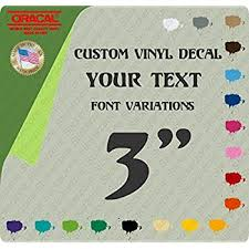 Amazon Com 3 Custom Vinyl Lettering Text Personalized Car Truck Window Decal Sticker Up To 15 Characters Everything Else