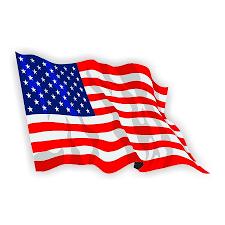 Waving American Flag Die Cut Vinyl Decal Sticker 4 Size