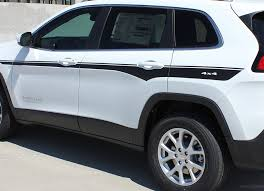 2014 2020 Jeep Cherokee Decals Chief Mid Body Line Accent Vinyl Decal Graphic Auto Motor Stripes Decals Vinyl Graphics And 3m Striping Kits