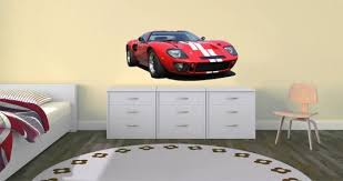Classic Red Racing Car Wall Decal Dezign With A Z