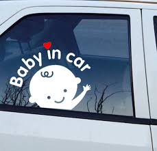 Car Window Decal Baby In Car Kneebees