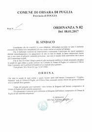 Orsara di Puglia: Orsara, ordinanza chiusura delle scuole