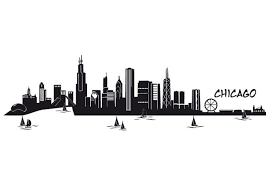 Chicago Skyline Silhouette Sketch Coloring Page Chicago Skyline Silhouette Chicago Skyline Skyline Silhouette