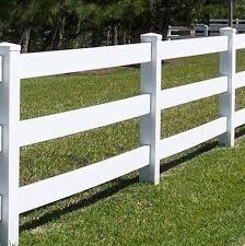 167 183 3 Rail Ranch Vinyl Fence Kit 3 Tall X 8 Ft Long