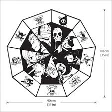 One Piece Straw Hat Pirates Crew Vinyl Wall Art Decal
