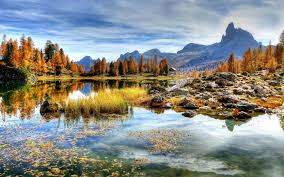 beautiful landscape with mountains and