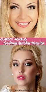 makeup for blonde hair and warm skin