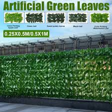 Artificial Hedge Screening Screen Ivy Fence Panel Mesh Garden Privacy Wall 3mx1m For Sale Ebay