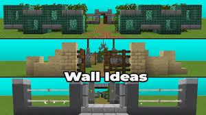 Simple Wall Ideas Designs For Minecraft 1 14 Youtube