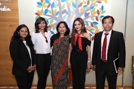 Abha Singh with her team of lawyers and Actor Madhoo Shah - NRInews24x7