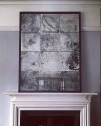extra large distressed antiqued glass