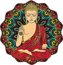 Amazon Com Unique Bright Gautama Buddha Yoga Meditation Window Sticker Decal 4 5 X 4 5 Automotive