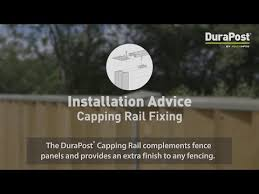 Installation Advice Durapost Capping Rail Youtube