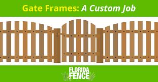 Florida Fence Gate Frames A Custom Job