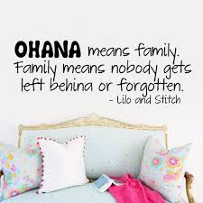 Wall Sticker Decal Quote Vinyl Art Lettering Lilo And Stitch Ohana Family Wall Sticker Sticker Decalsticker Wall Decal Aliexpress
