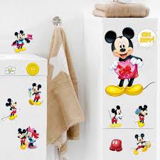 Đầy màu sắc 3D Phim Hoạt Hình Mickey Minnie Mouse Tường Stickers đối với  Trẻ Em