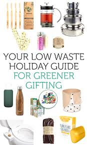 green holiday gifts for low waste