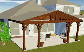 gabled patio cover with custom lighting