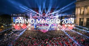 Exhibo sul palco al Concerto del Primo Maggio 2019