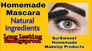 homemade mascara natural ings