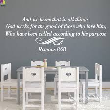 God Works Religion Bible Verse Quote Wall Sticker Living Room Romans 8 28 Inspiration Wall Decal Bedroom Vinyl Decor Inspirational Wall Decals Wall Stickerquote Wall Sticker Aliexpress