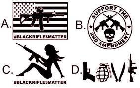 Black Rifles Matter Ar 15 Decal Sticker Gun Ar 15 2nd Etsy