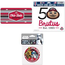 Ohio State Buckeyes Official Ncaa License Plate Acrylic Brutus 50th Car Window Cling Decalstar Wars R2 D2 And C 3po Die Cut Car Decal Bundle 0 Items Walmart Com Walmart Com