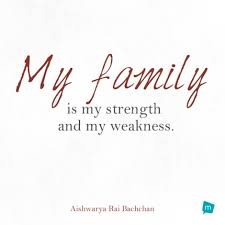 aishwarya rai bachchan quote family quote my family is my