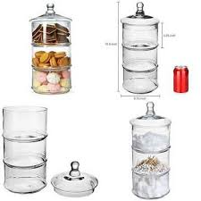16 3 tier stacking apothecary jars