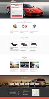 affordable car spare parts landing page