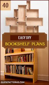 40 easy diy bookshelf plans guide