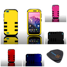 For BLU Life Play - Heavy Duty Snap On Rugged Stylish Armor Phone Cover  Case