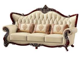 royal style genuine leather sofa set