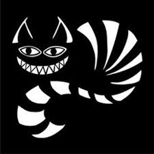 Robot Check Cheshire Cat Alice In Wonderland Cat Decal Cat Silhouette