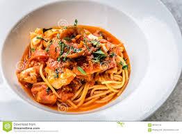 Seafood Spaghetti Marinara Italian With ...