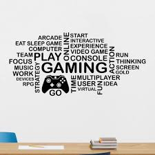 Gamimg Decal Video Game Controller Sticker Play Decal Gaming Posters Gamer Vinyl Decals Decor Mural Video Game Wall Sticker Wall Stickers Aliexpress