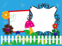 Baby Scrapbook For The Fence Flowers And Mushrooms Royalty Free Cliparts Vectors And Stock Illustration Image 16018584