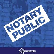 Notary Public Sticker Sign Business Door Decal Window Office Wall St Eccentric Mall