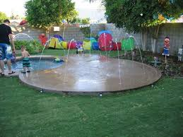 creating an escape at home splash pads
