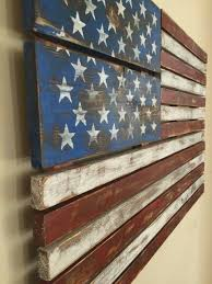 american flag pallet art hand painted