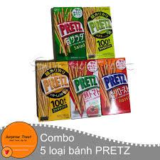 Combo 5 hộp bánh que Pretz 5 vị - Bánh kẹo Nhật Bản