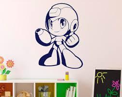Megaman Pixels Wall Decal Video Game Superhero Wall Vinyl Etsy