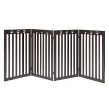 Buy Good Life Wooden Fence Freestanding Pet Dog Gate Indoor Adjustable Gates For Home Coffee Color 72 Inch Pet344 In Cheap Price On M Alibaba Com